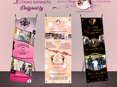 Custom X-Stand Banner & Stand Set