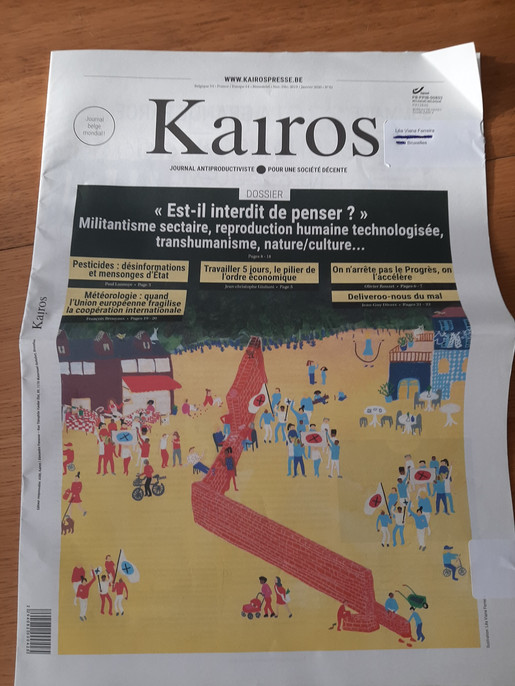 Cover Kairos n°42 Nov/déc/ Janv 2020