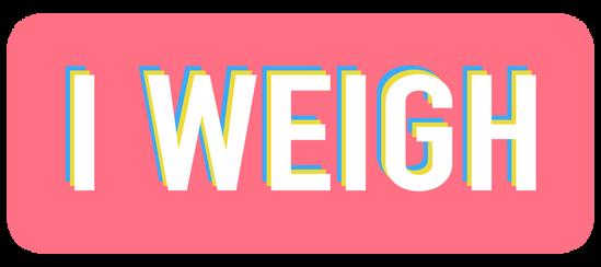 """Logo design for """"I Weigh"""""""