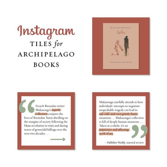 Instagram tiles for Archipelago Books.jp