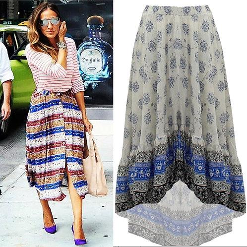 Boho Skirt in Blue