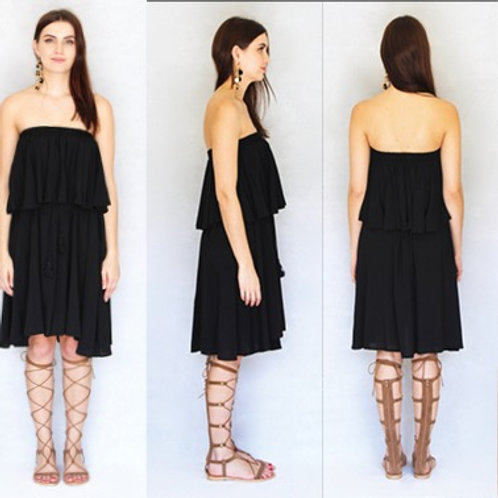 Black Layered Cake Dress