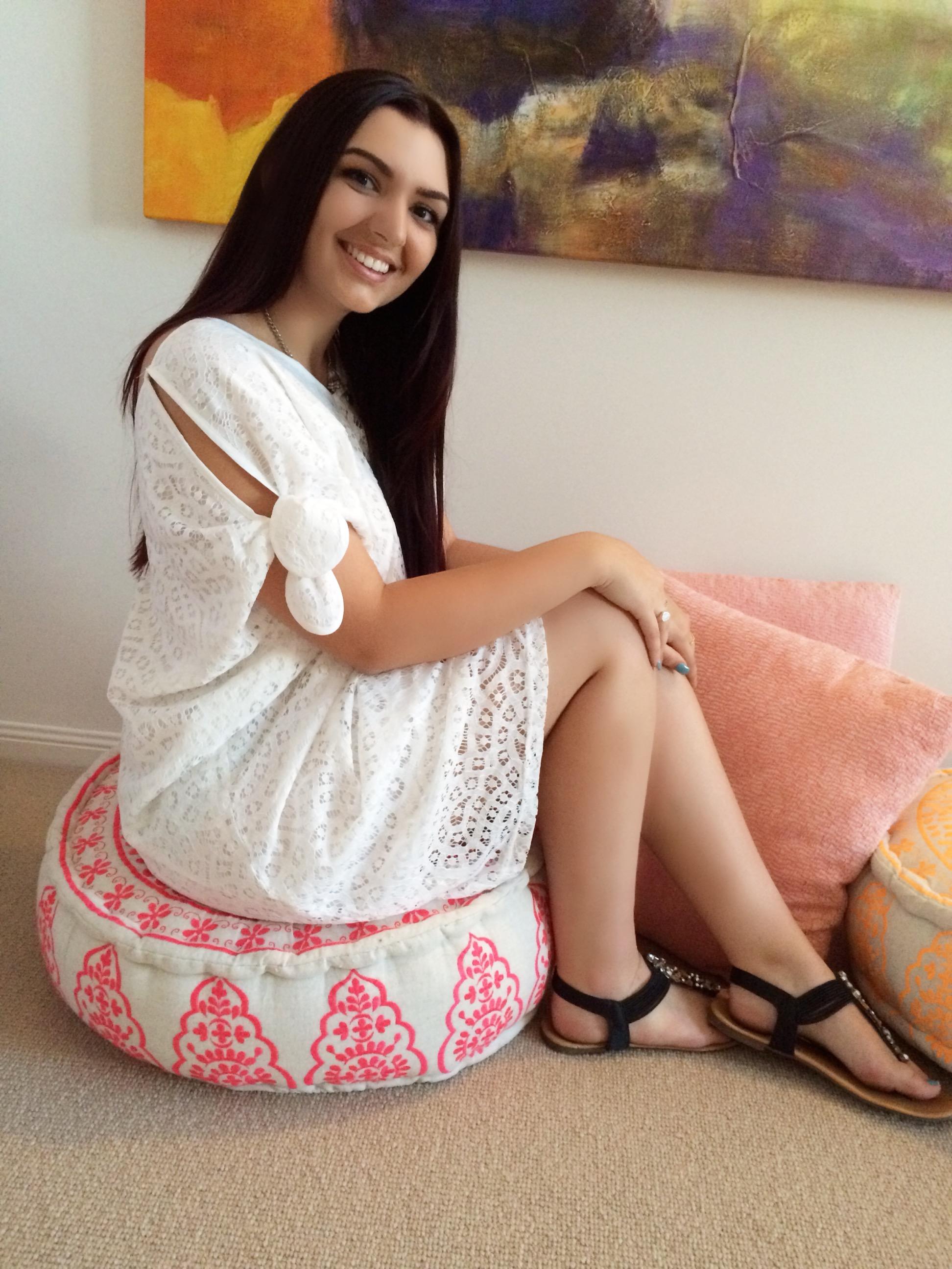 White Lace Kaftan