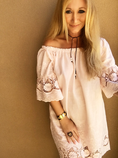 Dover Tunic Dress - Pastel Pink