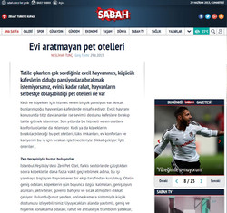 Sabah Gazetesi Sitesinde Zen Pet