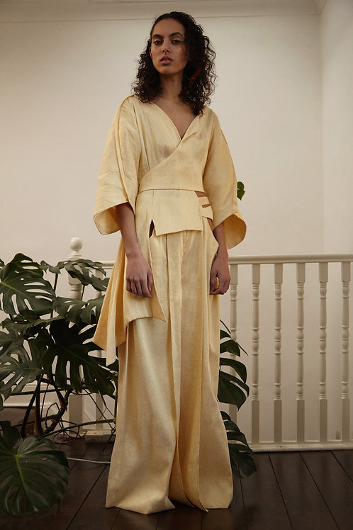 Asymmetric Robe Blouse