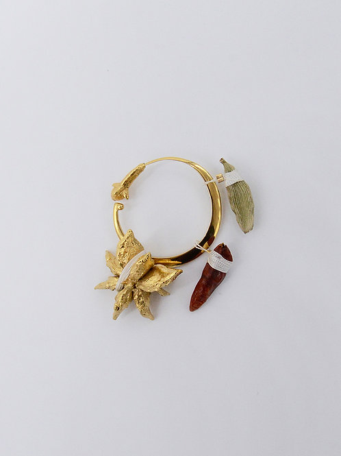 Crescent Brooch / Earring Small