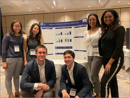 Dr. Minna Ng and student members of the TBL lab present at the 2020 Lilly Conference