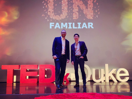 Professor Newpher and Ben Thier Deliver Talk at TEDxDuke
