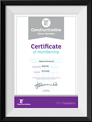 Highway Fencing Ltd Construction Line Certificate