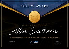 Saftety Award