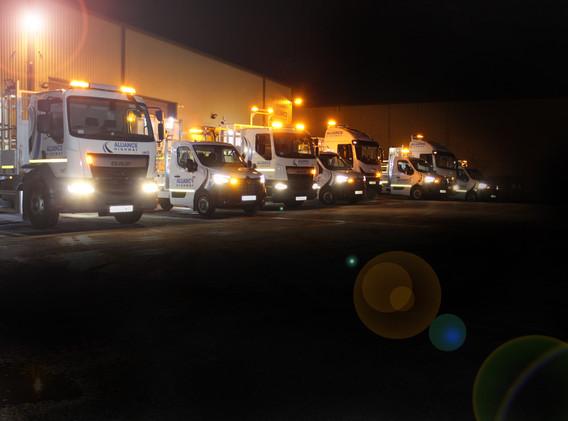 Alliance Vehicles at Depot