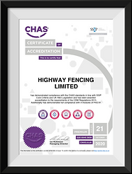 Highway Fencing Ltd Chas Certificate