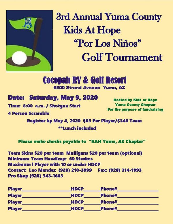 KAH 3rd Annual Golf Tourney Flyer 2020-p