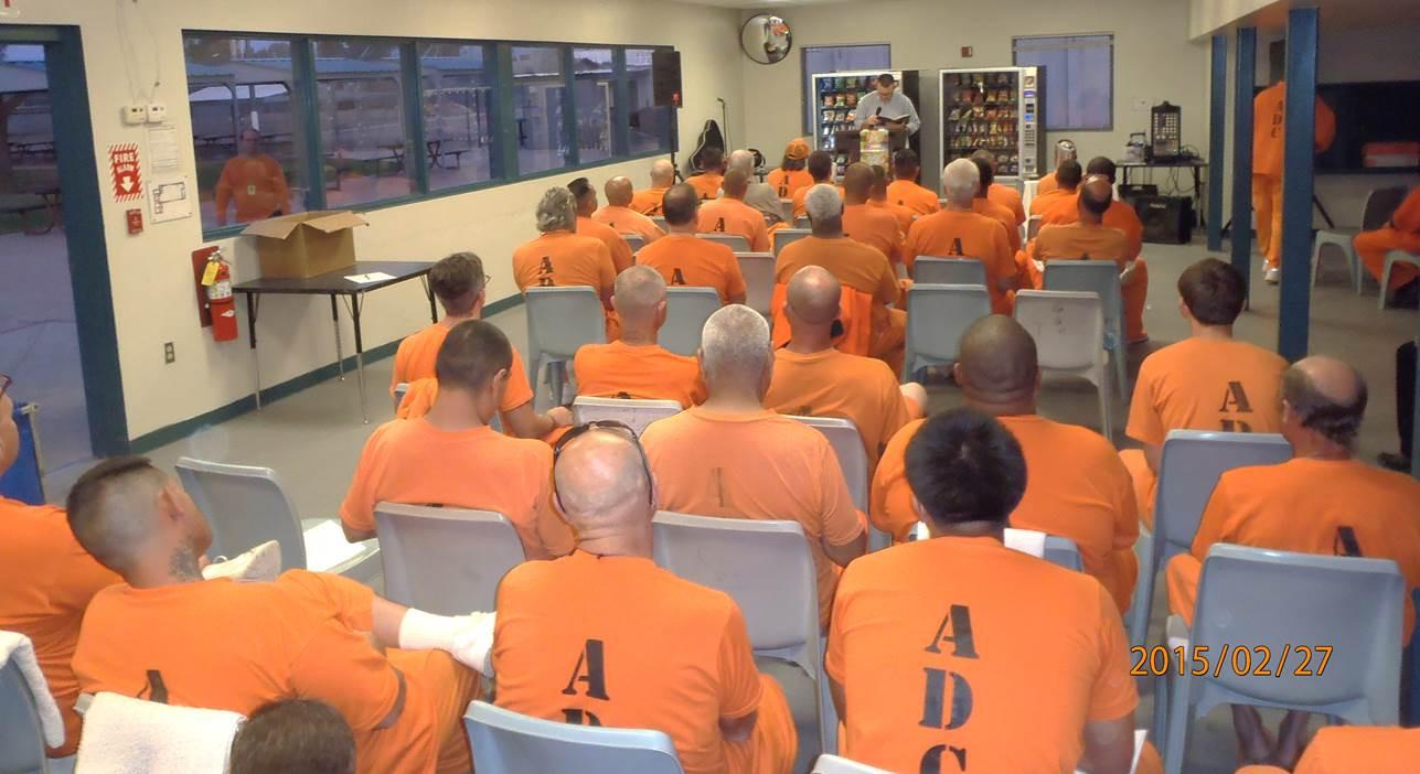 Inmates Florence North baptism