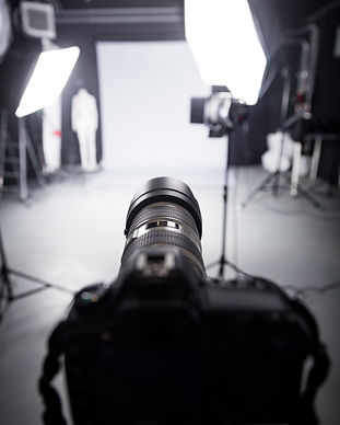 Professional camera set for a studio pho