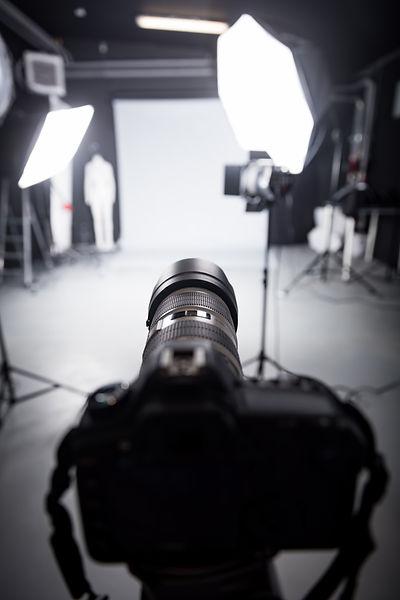 Professional camera set for a studio pho