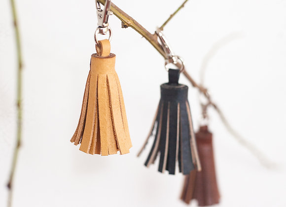 Single Leather Tassel - Mini