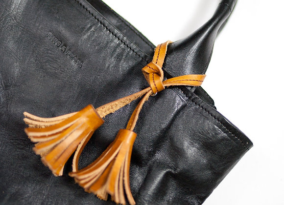 Leather Double Tassel