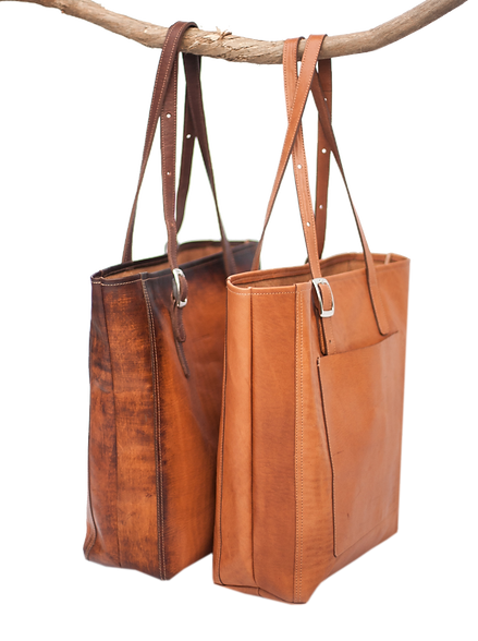 TWIG & PEARL tote handbag made in Belize from Genuine Leather