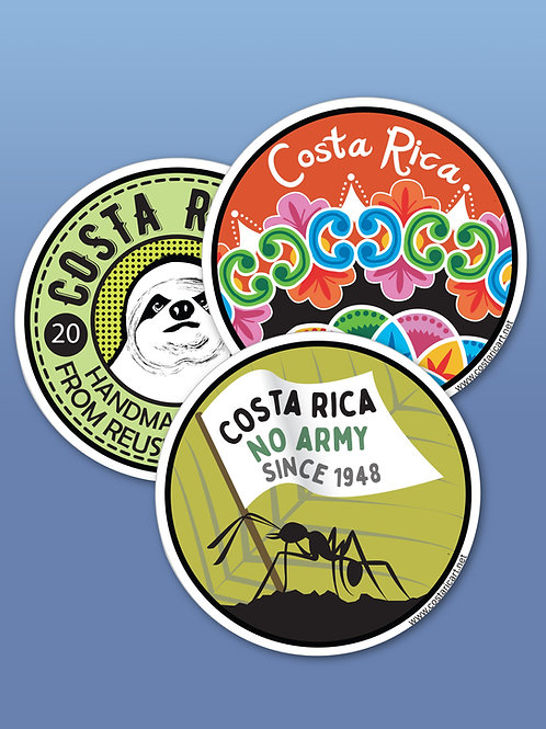 Costa Rica Homemade Stickers