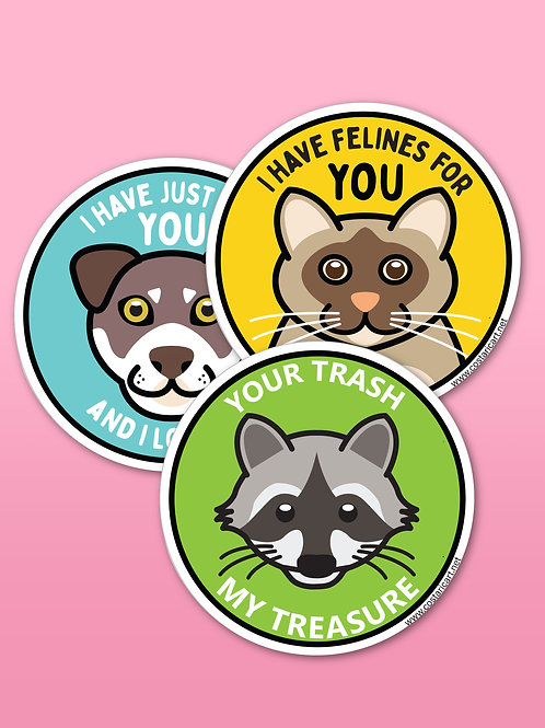 Cute Critters Homemade Stickers