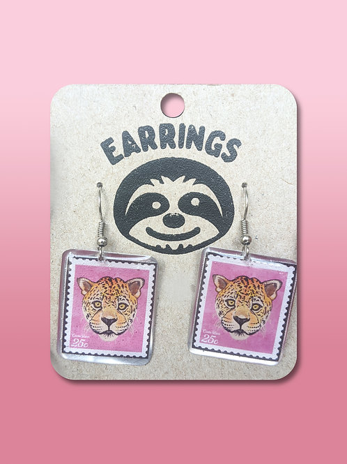 Postal Stamp Earrings