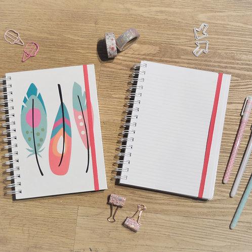 Cuaderno Plumas