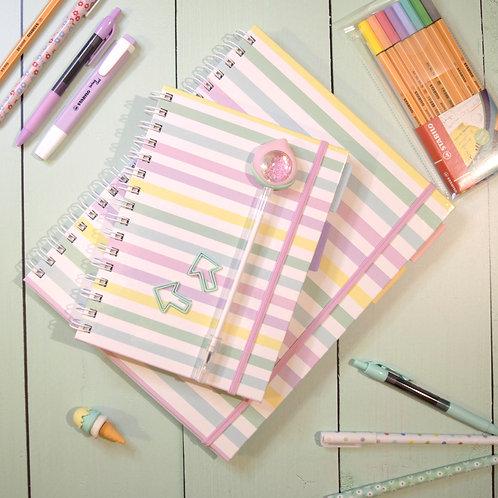 Pack Cuaderno+ Cuadernola a Rayas