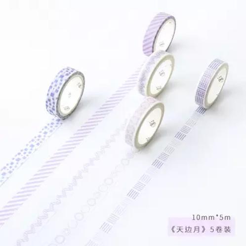 Washi x 5 Violeta