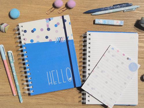 Cuaderno Hello + Libreta de Notas Hello