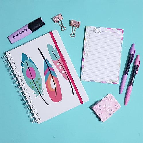 Cuaderno Pluma + Libreta de Notas Lista