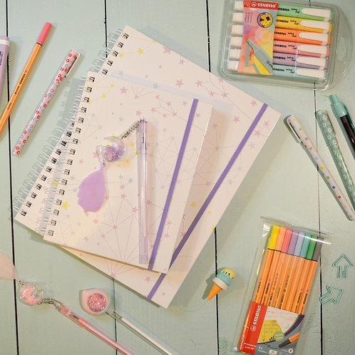 Pack Cuaderno + Cuadernola Constelaciones