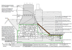 Wall drawing - repair proposal