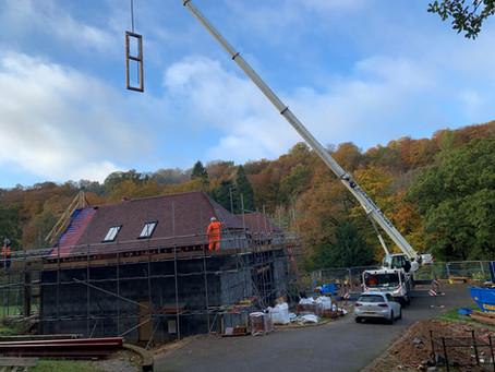 Oak frame lands in Hindhead
