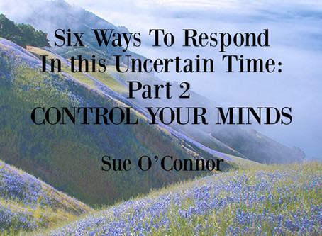 Six Ways To Respond In this Uncertain Time: Part 2, CONTROL YOUR MINDS