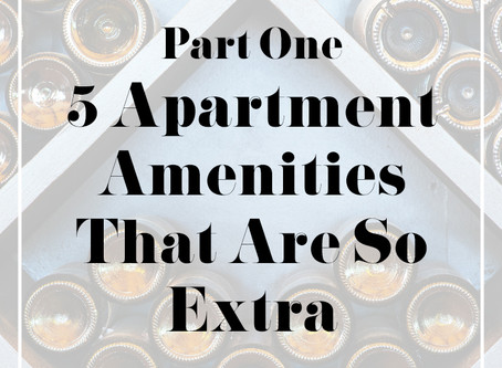 5 Apartment Amenities That Are So Extra - Part One