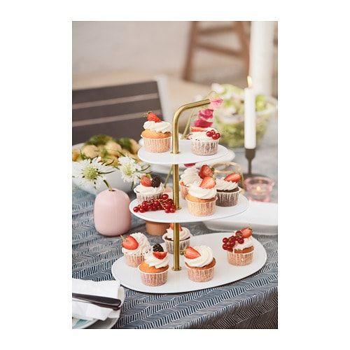 The serving stand is a festive way to serve pastries, cheese or fruit.