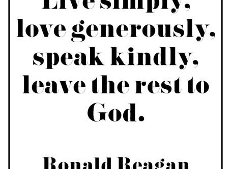 Monday Inspiration: Live Simply...