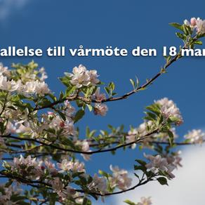 Vårmöte 18 mars