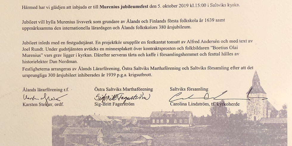 Murenius jubileum/ Internationella lärardag 5.10