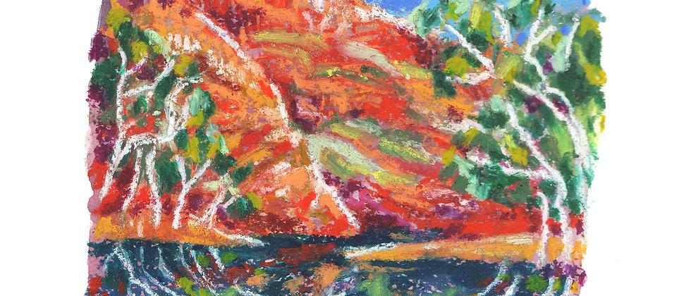 Landscape Studies - Watercolour and Oil Pastels