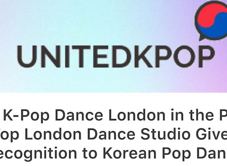 In The Press: UNITED KPOP Mention - top London dance studio gives recognition to Korean Pop Dance