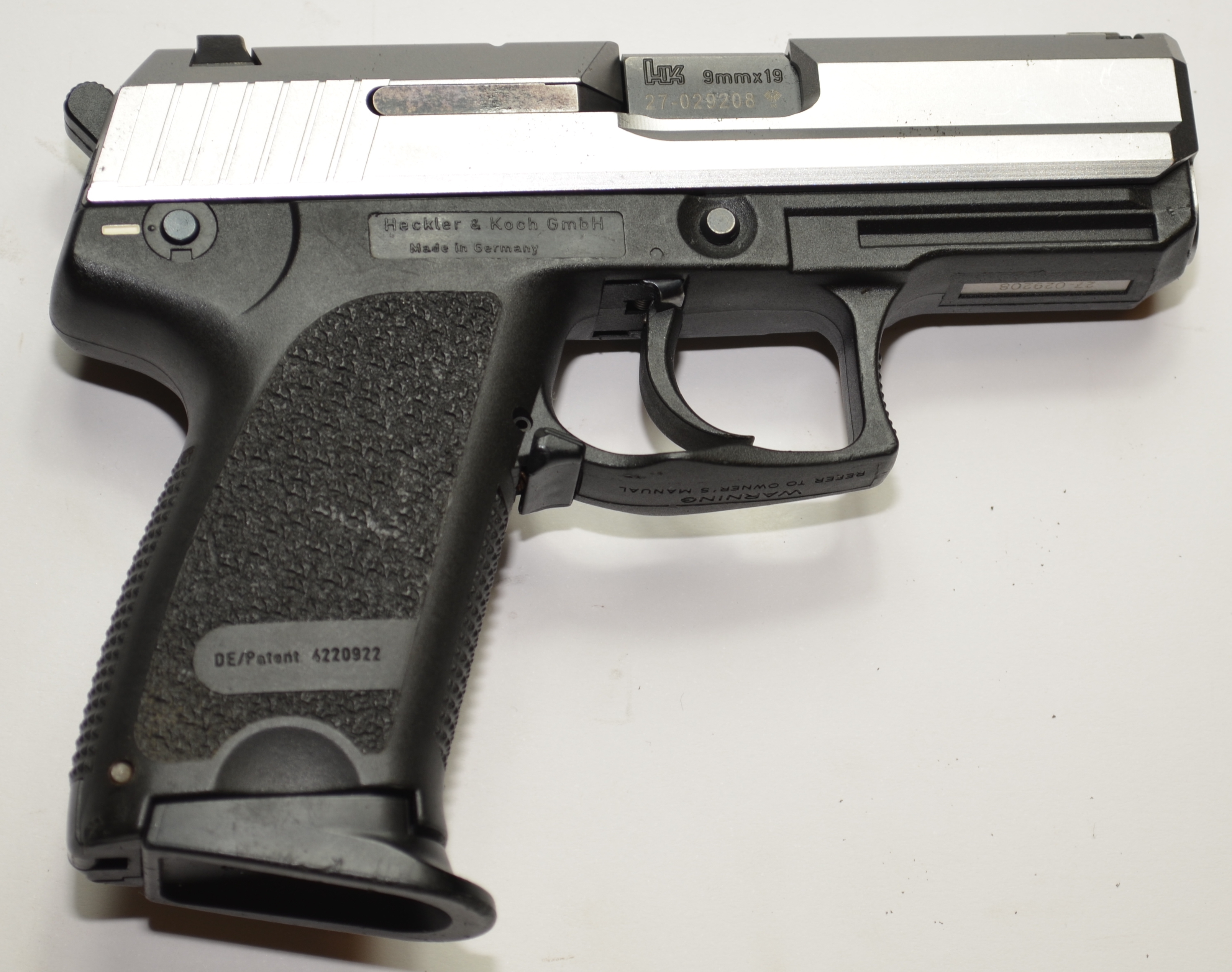 HK USP compact silver slide