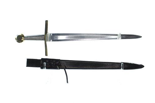 Medieval Disc Pommel Cross Hilt Dagger/Short Sword