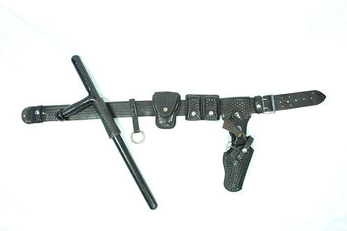 Basket Weave Revolver Belt
