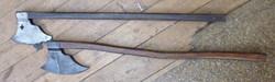 Long handled wood axe style