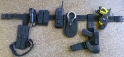 Armed police belt kit with X26 taser