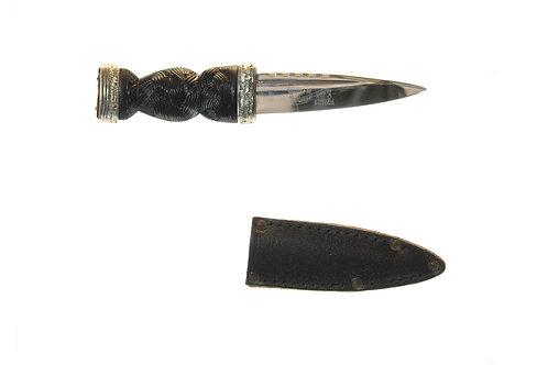 Skean Dhu Highland dress dagger (traditional black/silver grip)