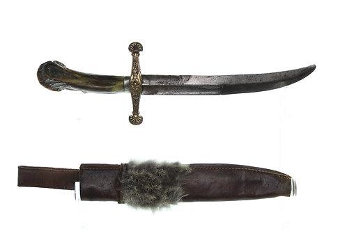 17th Century Style Cross Hilt Hunting Knife